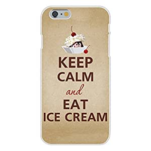 Apple iphone 6 plusd 5.5 Custom Case White Plastic Snap On - Keep Calm and Eat Ice Cream