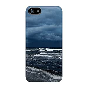 Awesome LLfZtio3657sKRIt LatonyaSBlack Defender Tpu Hard Case Cover For Iphone 5/5s- Earth Storm Background Id