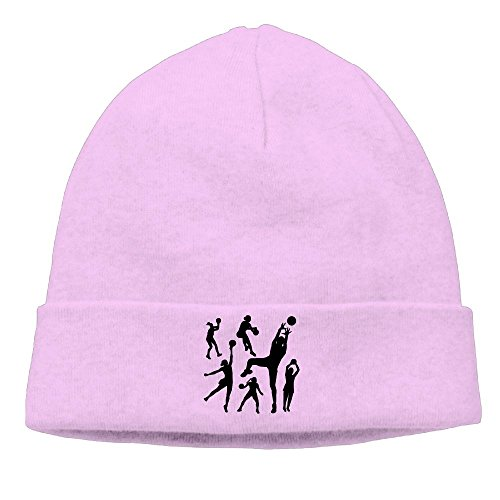 Basketball Or Netball Players Shooting Knit Skull Cap Unisex Reversible Beanie Hat For Men And Women