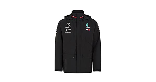 Amazon.com: Mercedes AMG F1 Team chamarra impermeable negro ...