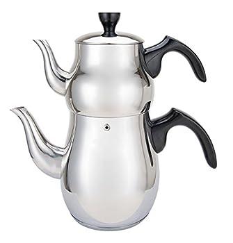 Stainless Steel Double Teapot / Samovar / Tea Maker