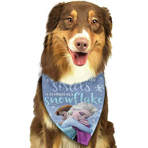 Custom Made Dog Bandana,Scarf Accessories for Small to Large Dogs Cats Pets-Disney Sister Frozen Pattern Printing -
