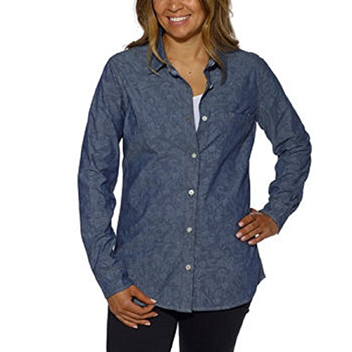 Weatherproof Vintage Ladies Sleeve Shirt Denim
