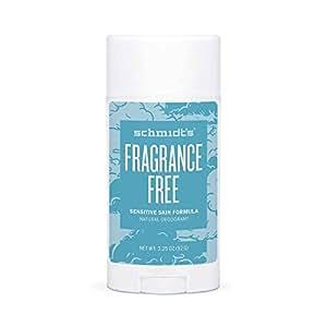 Schmidt's Natural Deodorant for Sensitive Skin - Fragrance Free, Unscented, 3.25 Oz Stick; Aluminum-Free Odor Protection & Wetness Relief