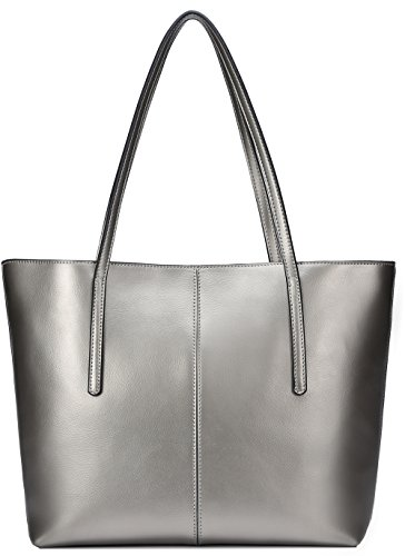 Silver Leather Bag - 7