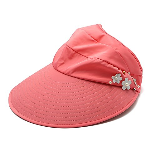 8d6da354d34c2 Lovely Meaeo Mujeres Plegado De Ala Ancha Uv-Prueba Sombrero Para El Sol De  Verano
