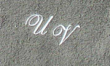Toalla de manos 50 x 100 cm New York Antracita con iniciales), Stick Color bordado/bordado con sus iniciales), Stick Color Blanco 0010: Amazon.es: Deportes ...