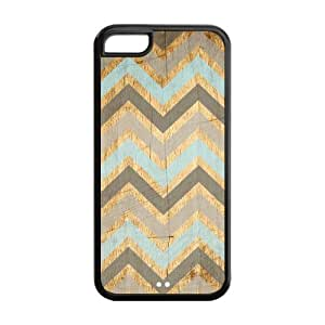 Vintage Wood Chevron Unique Custom Apple IPhone 5C Best Durable PVC Cover Case Custom Color and Text,New Fashion, Best Gift