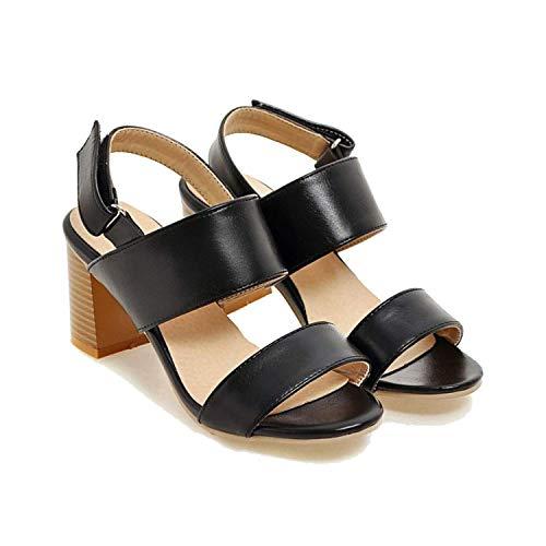 Amoilys 2018 Fashion Leather Women Sandals Open Toe
