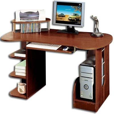 Scrivania Pc Noce.Scrivania Porta Pc Computer Ufficio Noce Amazon It Casa E
