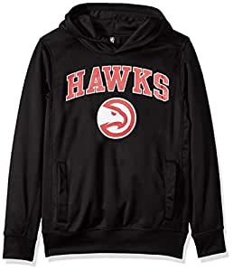 NBA by Outerstuff NBA Youth Boys Atlanta Hawks Loose Ball Performance Hoodie, Black, Youth Small(8)