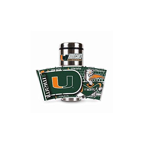 NCAA Miami Hurricanes Metallic Travel Tumbler,  16-Ounce (Miami Hurricanes Merchandise)
