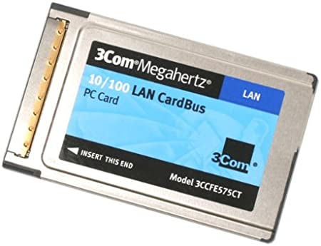 3CCFE575CT PCMCIA 10//100 NETWORK CARD with dongle