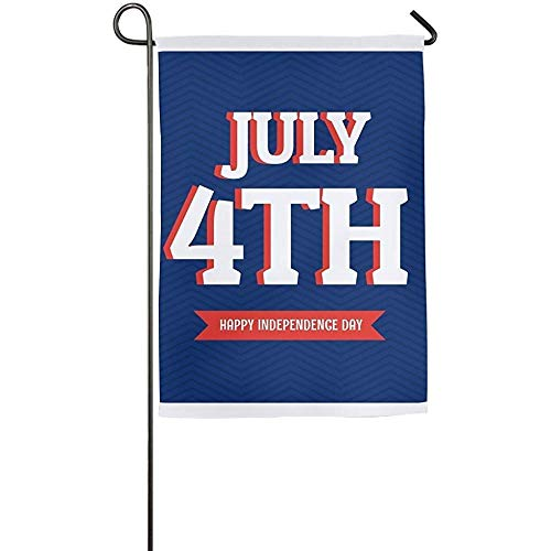 Brownnrio Garden Flag - Custom July 4th Yard Flag 12 X 18 In