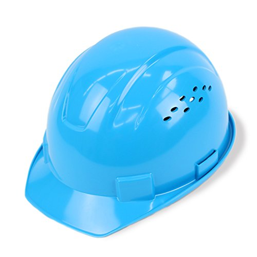 Light Blue Hard Hat (RK-HP14-LB, Hard Hat Cap Style with 6 Point Ratchet Suspension, 1EA (Light)
