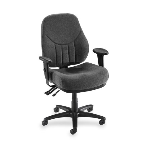 Lorell High-Back Multi-Task Chair, 26-7/8 by 26 by 39-Inch to 42-Inch-1/2-Inch, Gray ()