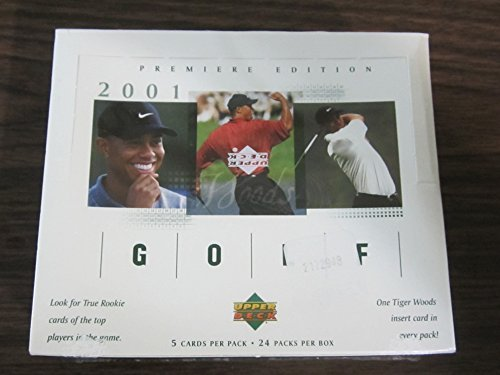 2001 Upper Deck Golf Hobby Box 24 pack / 5 Cards Tiger Woods, Sergio Garcia