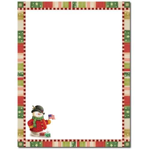 Patriotic Snowman Christmas Holiday Printer (Christmas Patriotic Snowman)