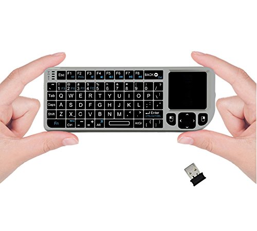 Cheap FAVI FE01 2.4GHz Wireless USB Mini Keyboard w Mouse Touchpad, Laser Pointer – US Version (Includes Warranty) – Silver (FE01-SL)