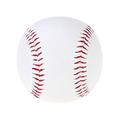 Baseball - TOOGOO(R)Baseball Baelle 9 Handmade PVC Obermaterial Gummi Innen weich fuer Exercise, 1 Stuecke Weiss SHOMAGT26541