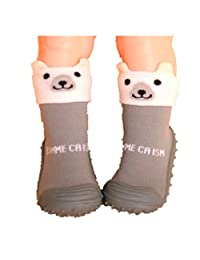 Cotton Cute Design Animal Image Baby Socks With Rubber Soles Floor Sock Non Slip