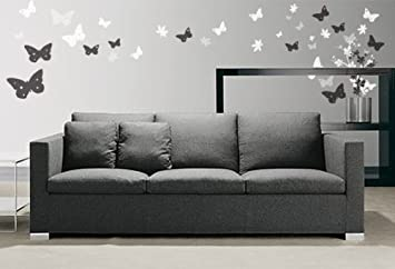 Vinyl Wall Art Decal Sticker Butterfly Flower Floral