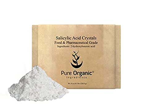 Salicylic Acid (Food and Pharmaceutical Grade) (8 oz (0.5 lb)) (also available in 4 oz and 16 oz) (Organic Salicylic Acid Powder)