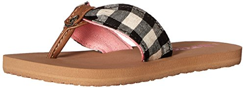 Reef Little Scrunch TX Kids Sandal (Toddler/Little Kid/Big Kid), Plaid, 07R (7/8 M US Toddler M US (Pink Plaid Canvas Kids Shoes)