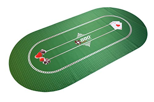 Portable Poker & Game Mat for 8 Players, Black