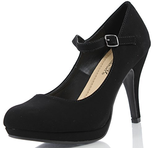 Black Women's Heel City Jane Comfort Classified High Dennis Mary AFHaZ
