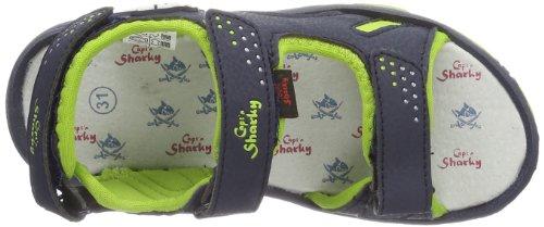 Captn Sharky 410301 - Sandalias con correa de tobillo Unisex adulto Azul (Blau (navy/grün 5))