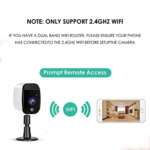 Geree Wireless Home Security Camera With Rechargeable Hd