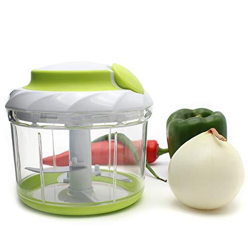 TOPULORS Hot Sale 34OZ Manual Food Chopper Hand-Powered Food Chopper Compact Handheld Onion Chopper, Garlic Squeezer, Ginger Slicer, Pepper Cut, Herbs Chop, Cheeses Chopper Masher