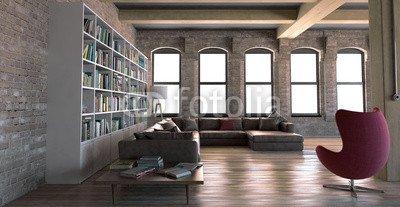 Interno soggiorno Vintage Con Libreria OpenSpace 3D (69988436 ...