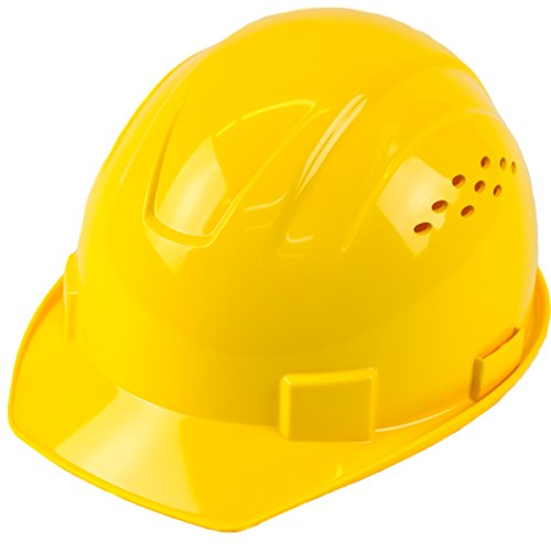 RK Safety RK-HP14-YE Hard Hat Cap Style with 4 Point Ratchet Suspension, 1EA (Yellow)]()