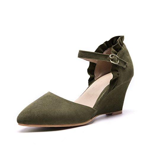 Vert 5 BalaMasa Green ASL05507 Femme Compensées Sandales 36 Zvn6q7R