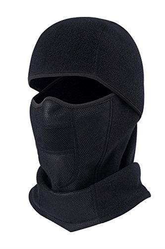 KAITUO Fleece Balaclava Face Mask For Cold Weather Thermal Motorcycle Helmet (Cold Weather Helmet Liner)