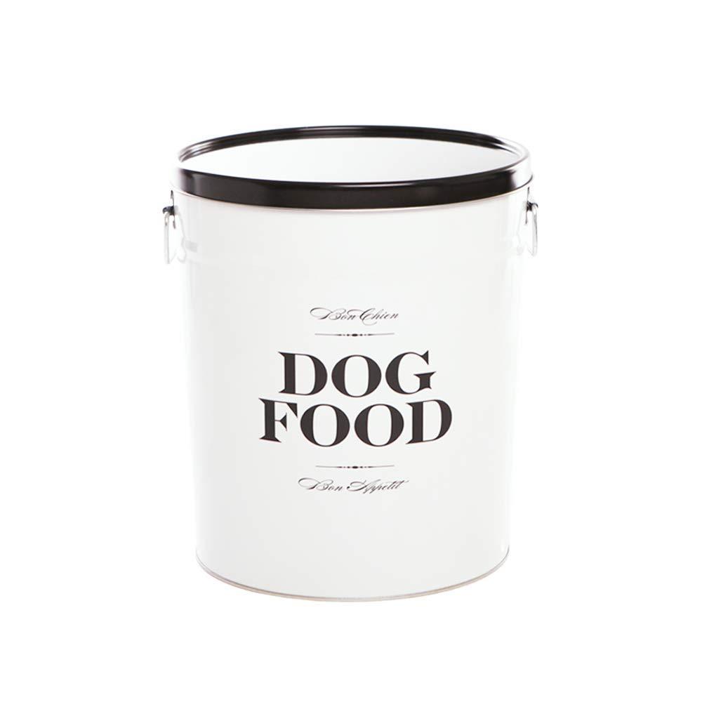 Harry Barker Dog Food Storage Canister - Bon Chien - Black - 22 lb by Harry Barker