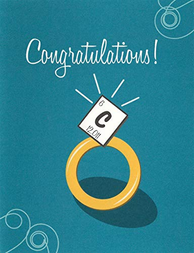 Periodic Table Carbon Science Engagement/Wedding Card (4.25