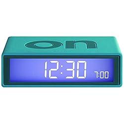 Lexon - Flip On/Off Alarm Clock - Blue Green