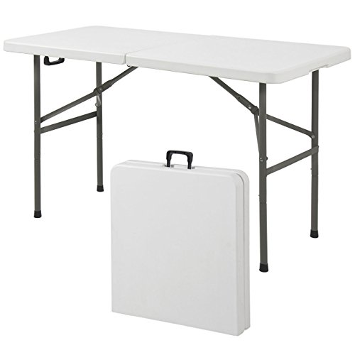 Commercial Construction Light Weight Portable High Density Plastic Folding  Table ...