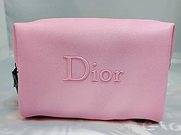 Amazon.com : Dior Beaute Counter Gift - Pink Makeup Bag with Black Zipper : Beauty