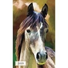 2019 Weekly & Monthly Classic Horse: 12 Month Planner Diary with Vertical Day Appointment Agenda and Small Calendar Organizer