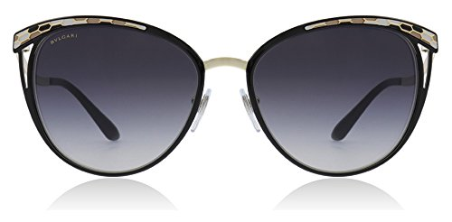 Bvlgari BV6083 20188G Black/Gold BV6083 Cats Eyes Sunglasses Lens Category ()