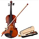 Teekland 4/4 Acoustic Violin With Case Bow Rosin for Violin Beginner- Natural Larger Image