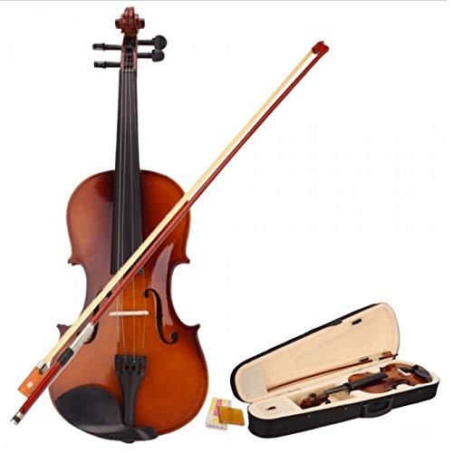 Teekland 4/4 Acoustic Violin With Case Bow Rosin for Violin Beginner- Natural by Teekland