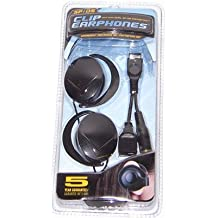 Hip Gear Clip Earphones with Avec Dual Gameboy / Nintendo Connector by HIP Gear