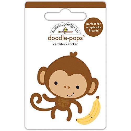Doodlebug Designs Monkey Mike Doodle-Pops Dimensional ()