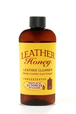 Leather Cleaner by Leather Honey: The Best Leather Cleaner for Vinyl and Leather Apparel, Furniture, Auto Interior, Shoes and Accessories. Concentrated Formula Makes 32 Ounces When Diluted! from Leather Honey Leather Conditioner