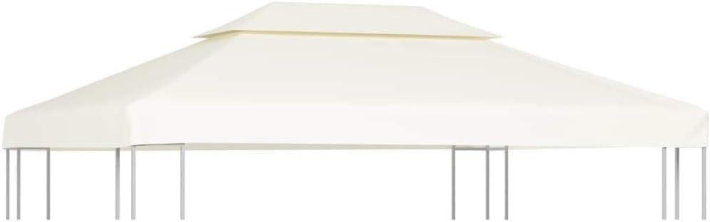 vidaXL Toldo de Cenador de Repuesto Tela Impermeable Blanca 3x4m Techo Pérgola: Amazon.es: Hogar